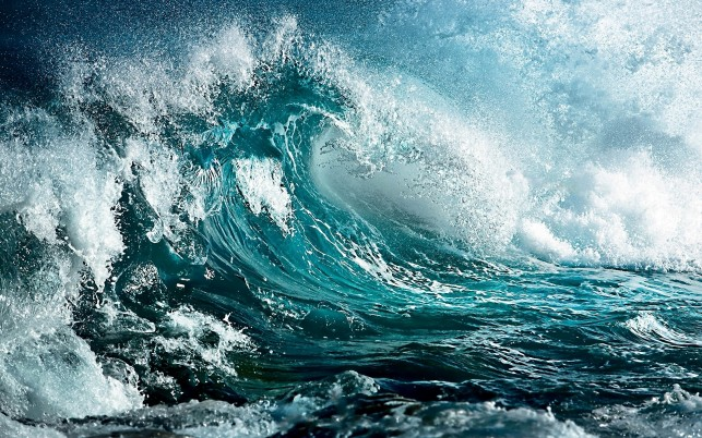 Lovely Blue Ocean Wave Splash wallpapers and stock photos