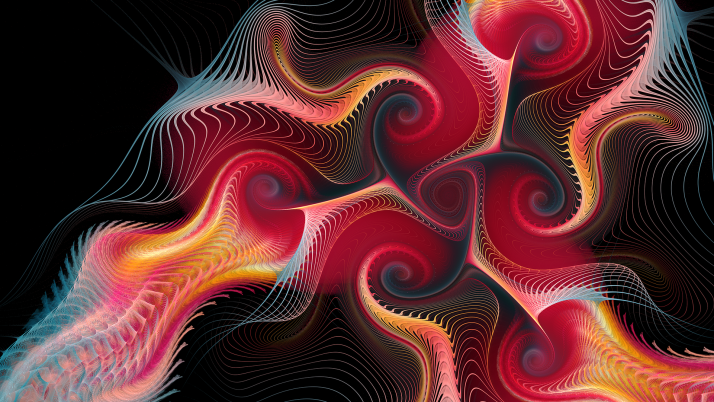 Fire Red Lines Fractal wallpapers and stock photos