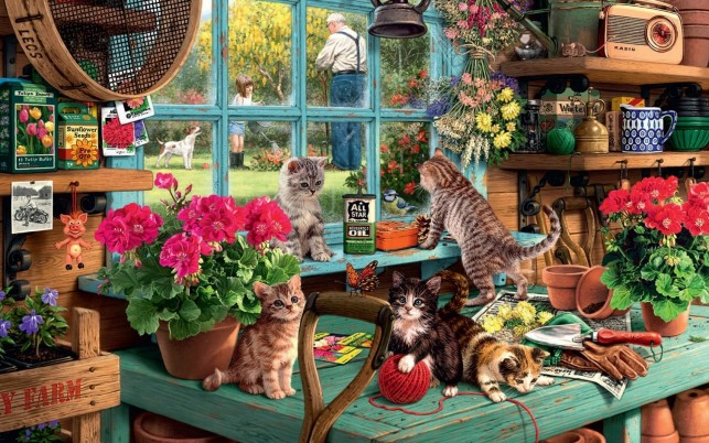 Bower Kittys Garden People Dog wallpapers and stock photos