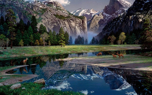 Delightful Yosemite Spring wallpapers and stock photos