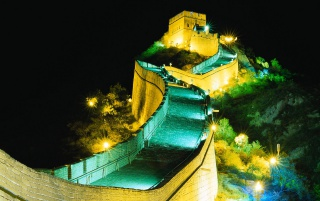 Great Wall by Night wallpapers and stock photos