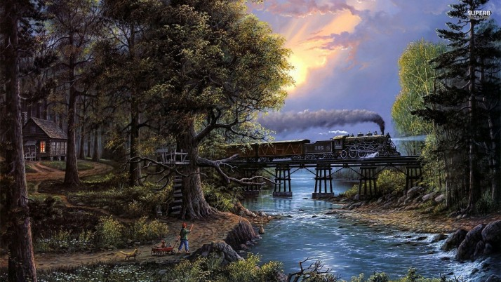 Wood River Boy Pets Rail Road wallpapers and stock photos