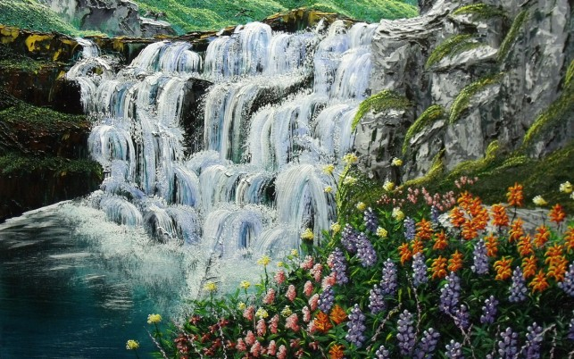 Random: Excellent Waterfalls & Flowers