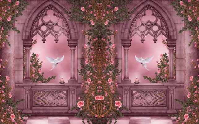 Roses & Pigeons wallpapers and stock photos