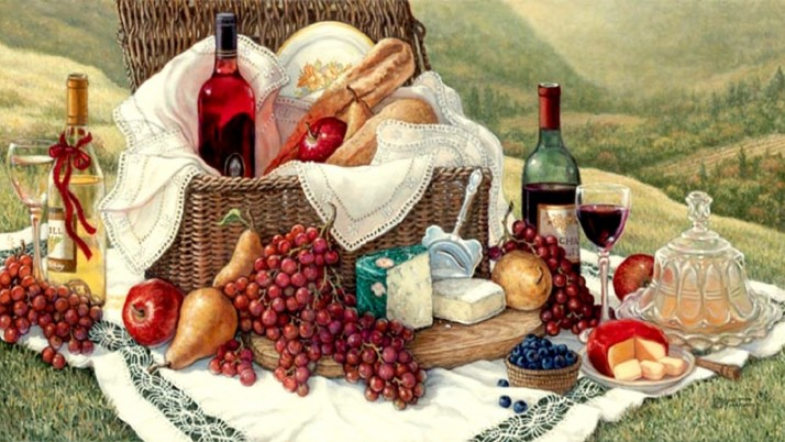 Tuscan Picnic wallpapers and stock photos