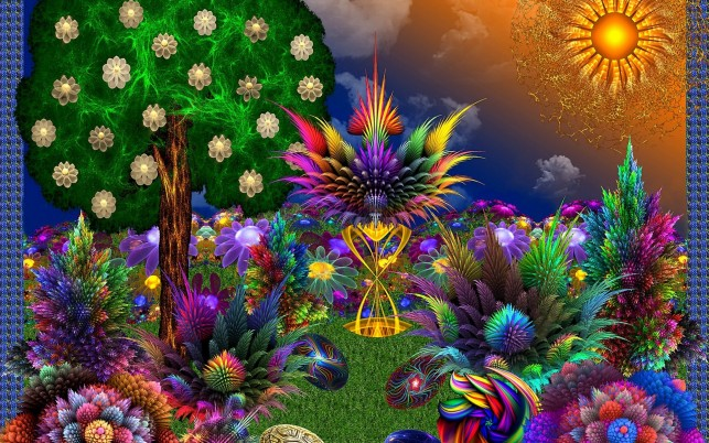 Paradise Fractal wallpapers and stock photos