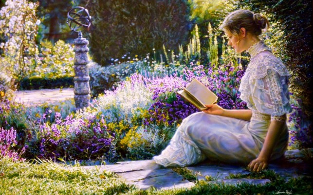 Next: Woman Reading Book Garden