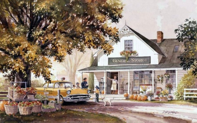People Country General Store wallpapers and stock photos