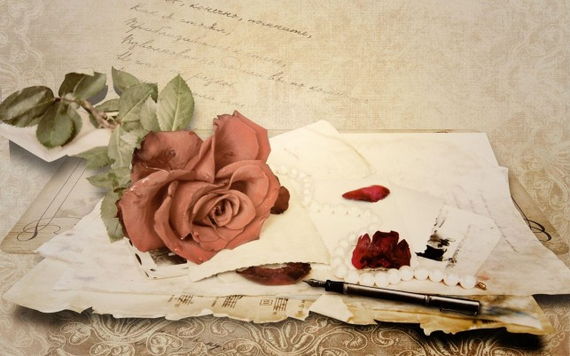 Love Letter Vintage- wallpapers and stock photos