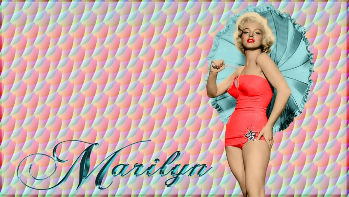 Marilyn Monroe Aqua Umbrella wallpapers and stock photos