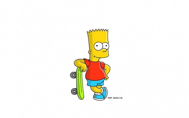 Bart Simpson Monopatín wallpapers and stock photos