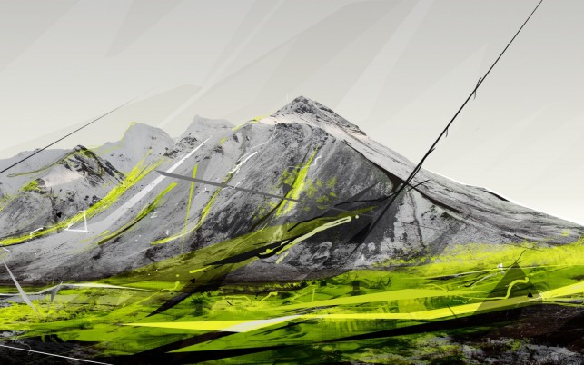 Abstract Mountains wallpapers and stock photos