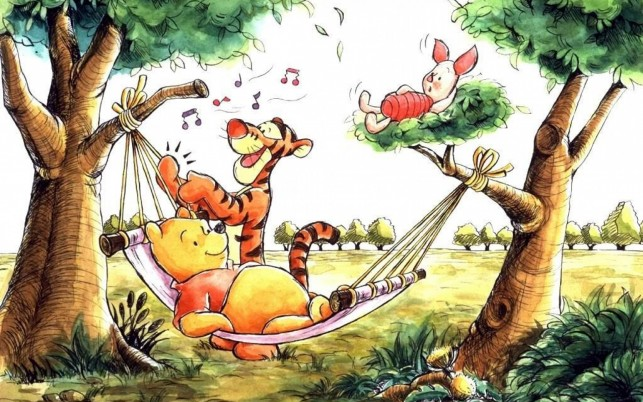 Winnie The Pooh Hammock wallpapers and stock photos