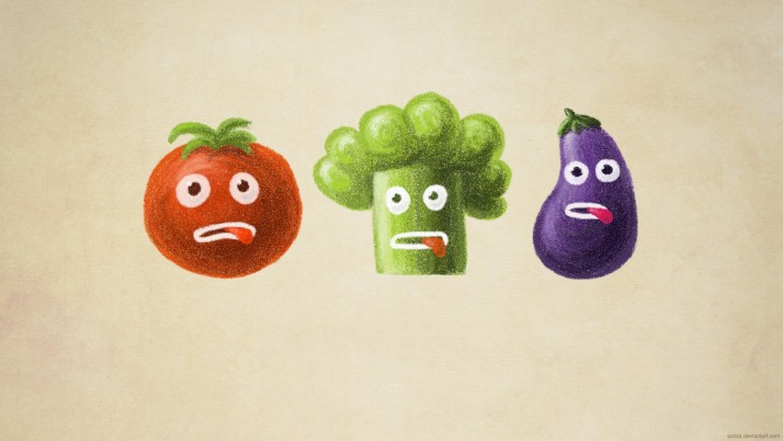 Random: Cheeky Vegetables