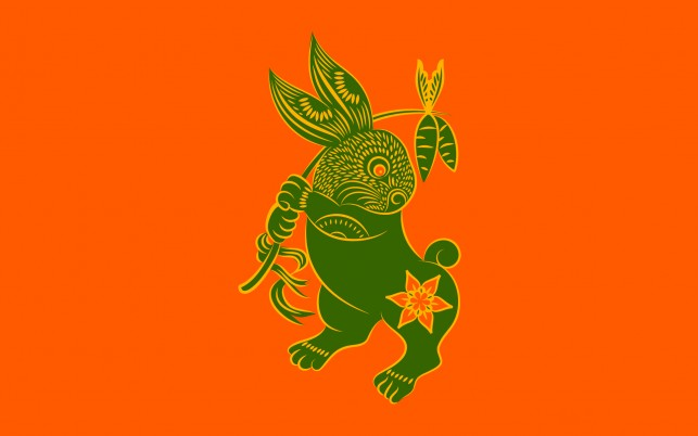 Chinese Zodiac Rabbit wallpapers and stock photos