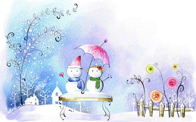 Snow Men & Snow Woman wallpapers and stock photos