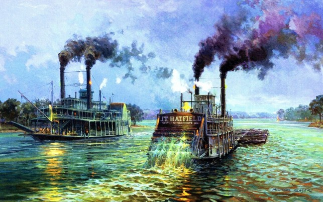 River Steam Boats Mississippi wallpapers and stock photos