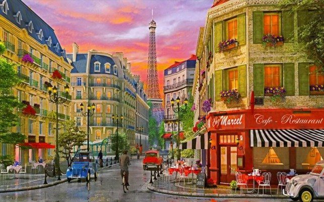 Cafe Restaurant Eiffel Tower wallpapers and stock photos