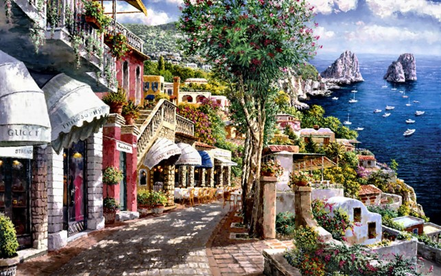 Shops Beautiful Capri Italy wallpapers and stock photos