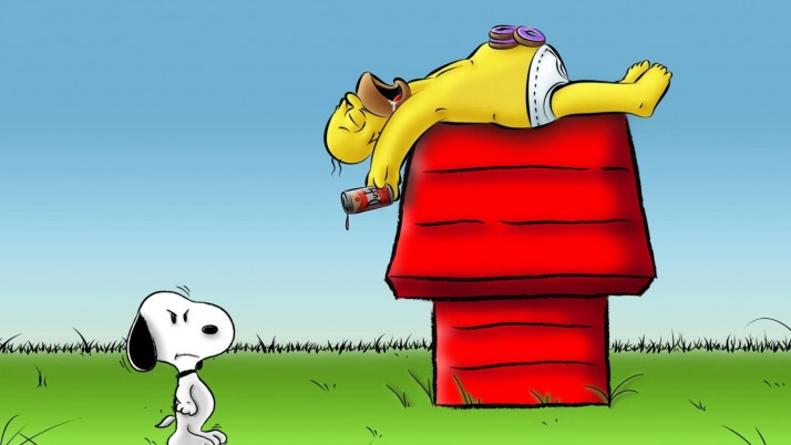 Snoopy & Homi Trouble wallpapers and stock photos
