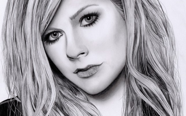 Avril Lavigne Portrait wallpapers and stock photos