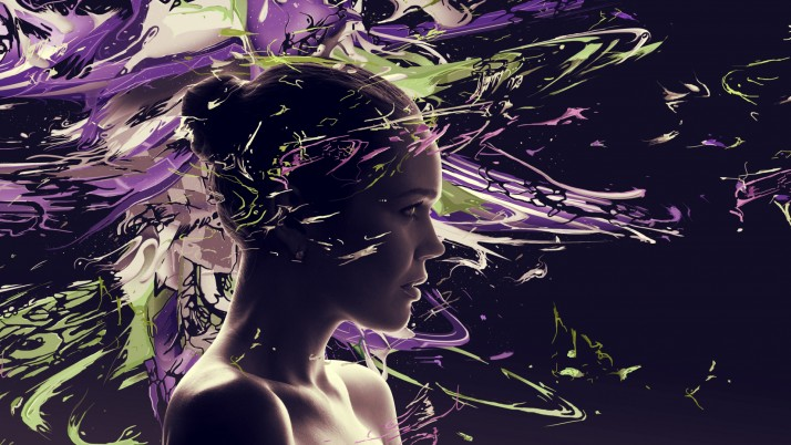 Girl Face Psychedelic wallpapers and stock photos