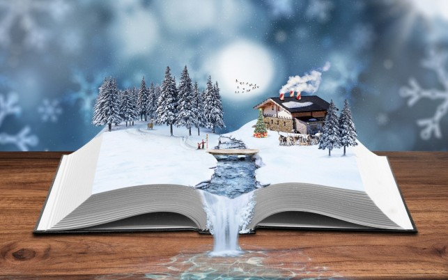 Winter Book wallpapers and stock photos