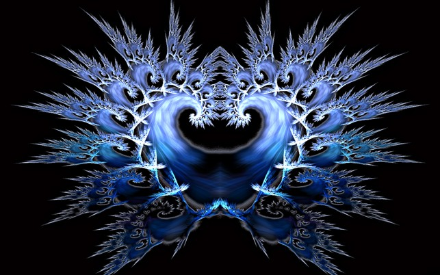 Frozen Heart Fractal wallpapers and stock photos
