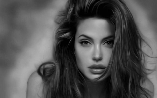 Angelina Jolie Portrait wallpapers and stock photos