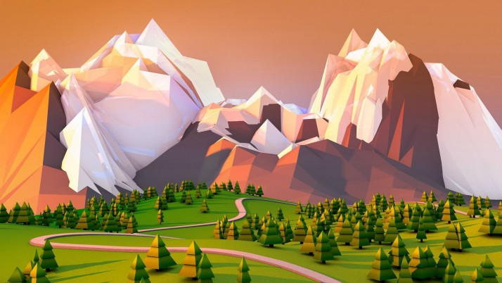 Random: Great Mountains & Trees