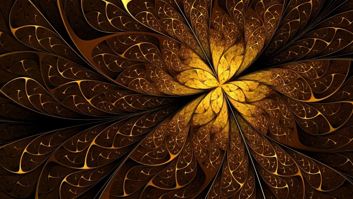 Golden Lines Pattern Fractal wallpapers and stock photos