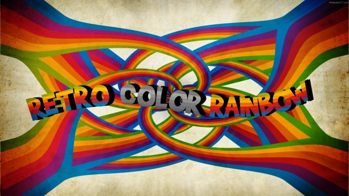 Retro Color Rainbow wallpapers and stock photos