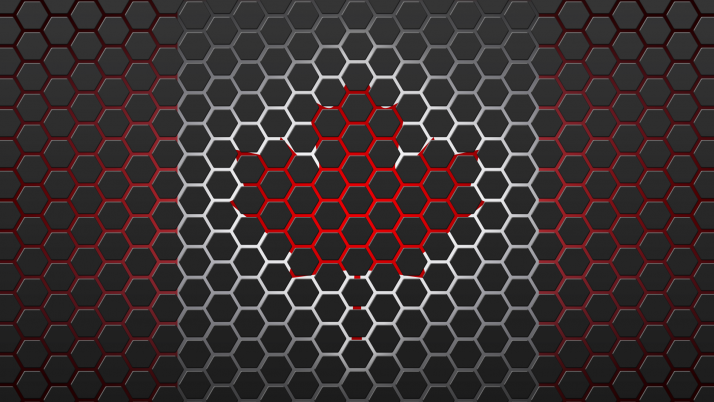 Random: Canada Flag Hexagon Design