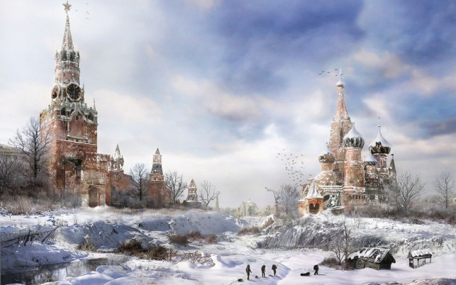 Apocalypse Moscow Russia Two wallpapers and stock photos