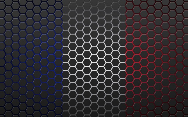 Drapeau fran�§ais dans les hex wallpapers and stock photos