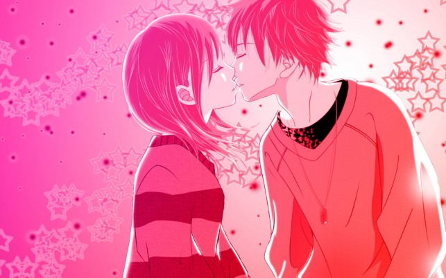 First Kiss wallpapers and stock photos