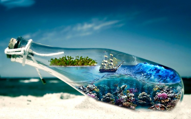 Ocean In A Bottle wallpapers and stock photos