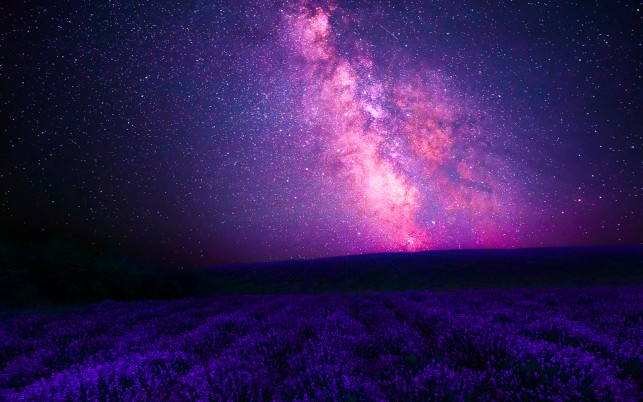Pink Galaxy & Purple Lavender wallpapers and stock photos