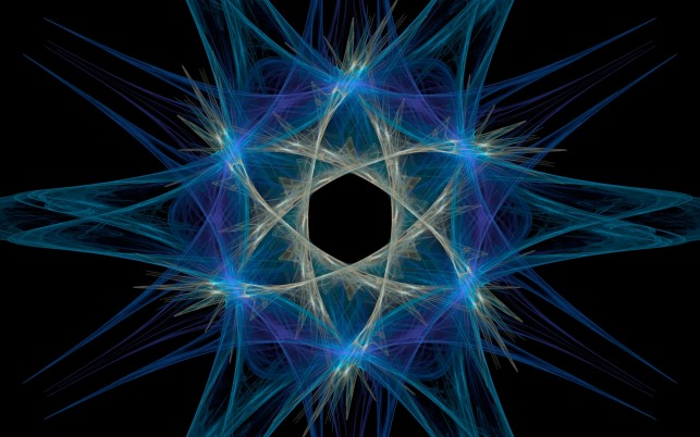 Blue Flame Star Fractal wallpapers and stock photos