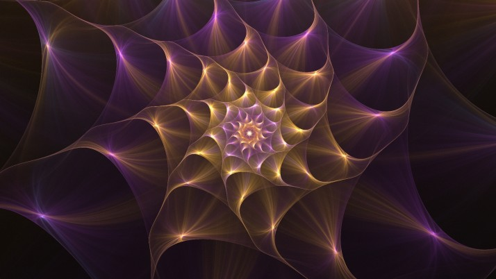 Golden & Lilac Blossom Fractal wallpapers and stock photos