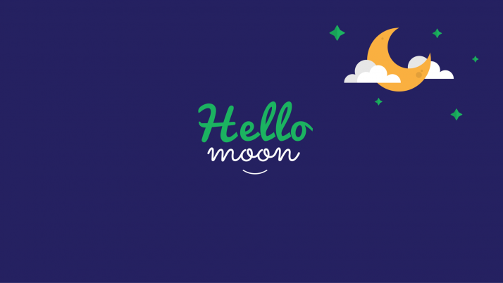Hello Moon wallpapers and stock photos
