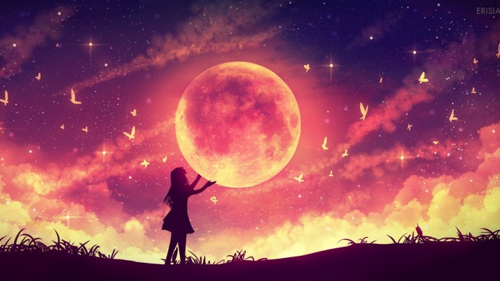 The Moon So Close wallpapers and stock photos