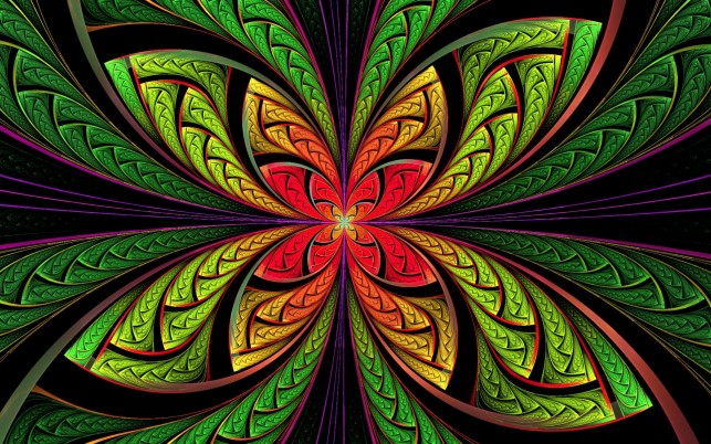 Multi Color Fractal Floral wallpapers and stock photos
