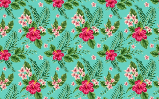 Hibiscus Pattern wallpapers and stock photos