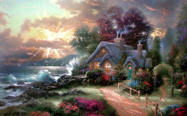 Ocean Cottage wallpapers and stock photos
