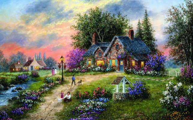 Stony Brook Cottage wallpapers and stock photos