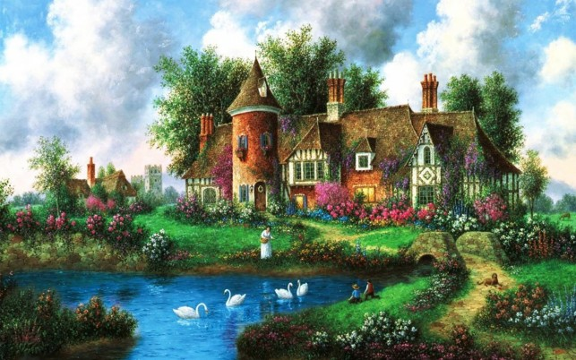 Country Manor wallpapers and stock photos