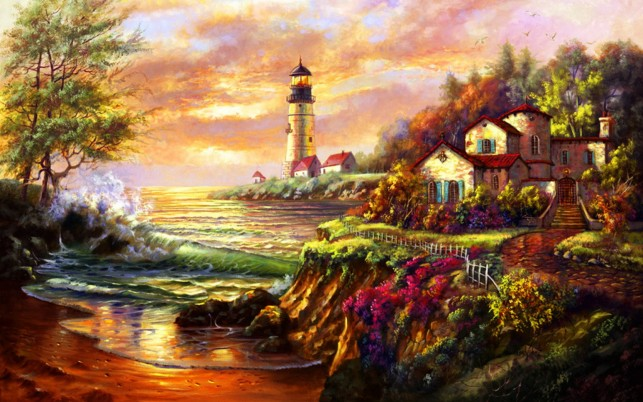 Light House Mansion wallpapers and stock photos
