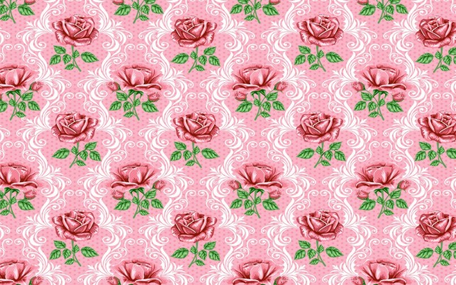 Dark Pink Roses Pattern wallpapers and stock photos