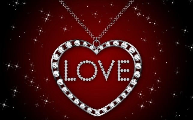 Diamond Heart Necklace wallpapers and stock photos